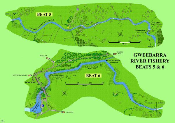 Gweebarra Beats 5 & 6 Map
