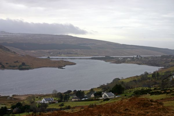 View over Lough Nacung on the Clady River System