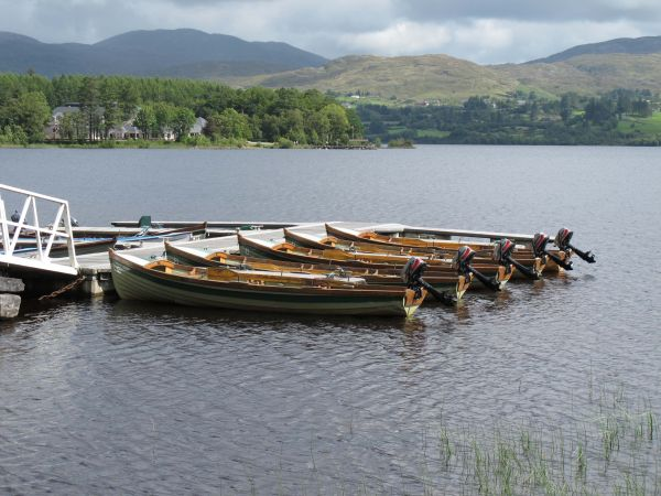 The Lough Eske fleet of visitor boats