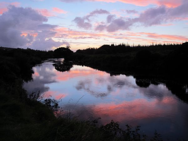 Summer sunset on the Owenea River.