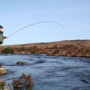 Good water on the Lackagh River and into a spring salmon!. ©John Todd