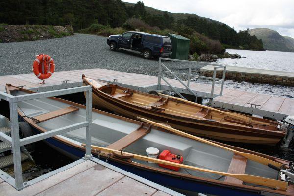 Lough Beagh Boats at the moorings